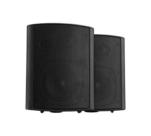 Pronomic USP-430 BK HiFi Wandlautsprecher Paar - 2-Wege Lautsprecher Boxen im Set - Ideal für Gastronomie und Terasse - inklusive Wandhalterung zur Befestigung - 120W Leistung - schwarz