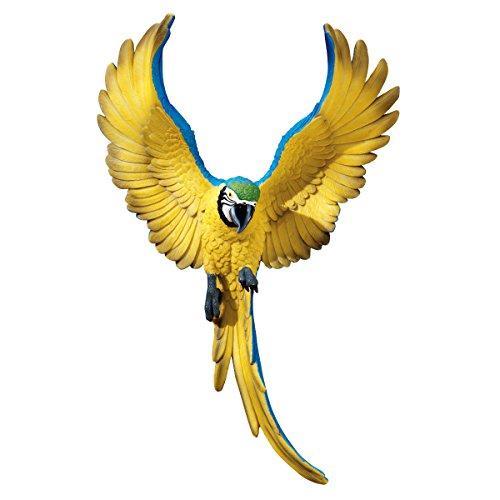 Design Toscano Wandfigur Phineas the Flapping Macaw, Flügelschlagender Vogel