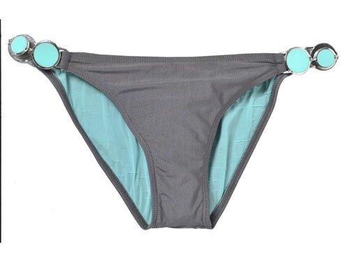 Roxy Fiji Moon Scooter Pant - Parte de Abajo de Bikini Gris Shale Talla:Extra-Large