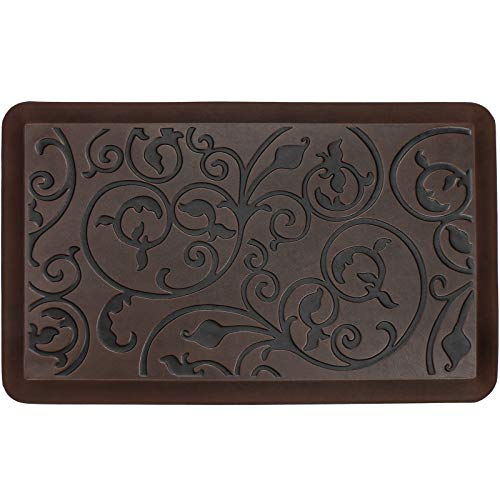 Kitchen Mat Rugs Anti Fatigue Small Cushioned Comfort Floor Mats, Standing Mats for Home Kitchen Sink Office Standup Desk Riser Laundry (20 x 32 x 3/4 Inches, Antique Dark)