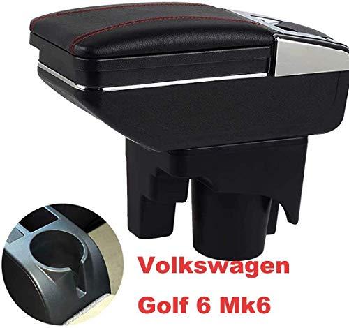 Armlehne Box Konsolen Lagerung mit Becherhalter Aschenbecher Auto-Zubehör für Golf 6 Mk6 2008-2013 Jetta Mk5 2006-2011 Vento Wagon 2009 2010