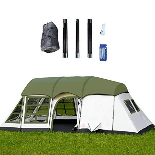 DXIUMZHP Zelte Übergroßes Zelt Großer Raum Für 6-8 Personen Camping Im Freien Verdickte Regensichere Markise DREI Seiten Atmungsaktives Netz (Color : Green, Size : 600 * 360 * 215cm)