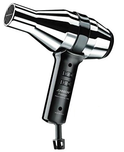 JOHNSON ELETTRODOMESTICI PRESTIGE 1500W Negro, Cromo secador - Secador de pelo (Corriente alterna, Negro, Cromo, 2 m, 205 x 90 x 270 mm)