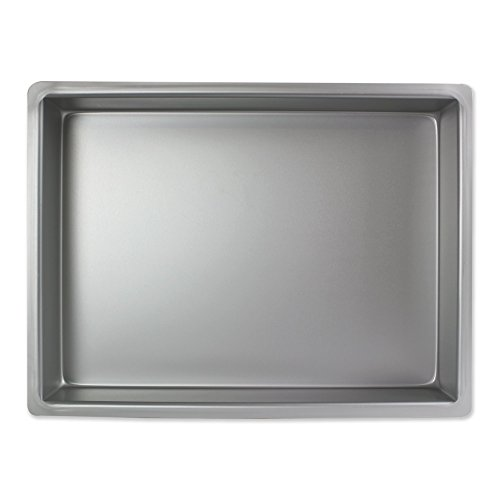 PME Oblongo Molde para Pastel de Aluminio, Plateado, 9 x 12 x 2 Pulgadas