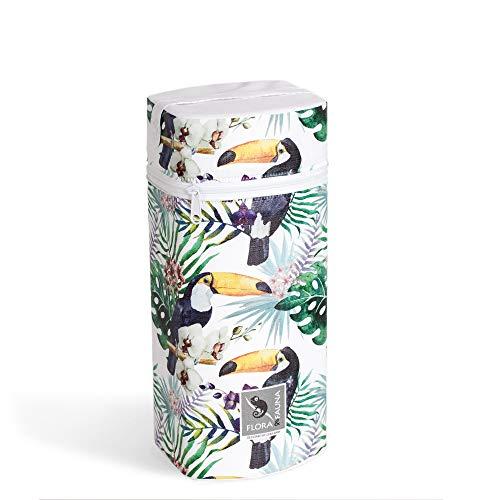 Isoliertasche für Babyflaschen FLORA-Kollektion verschiedene Motive Baby Warmhaltebox & Kühltasche Thermobox (Tucan)