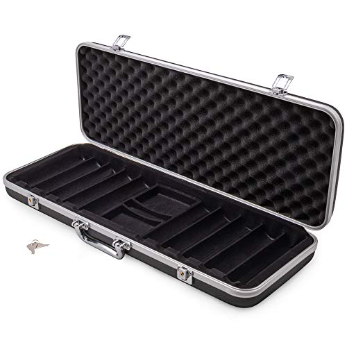 Brybelly Poker 500 ct. Chip Case   Includes ABS Case with Room for Two Decks, and Specialized Chips   Portable, Sturdy Case Perfect for Texas Hold 'Em, Parties, and More