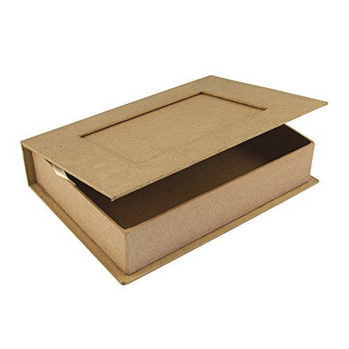 Rayher 71747000 Buch-Box, Pappmaché, FSC zertifiziert,22,8x16x5cm (LxBxH), Geschenkbox, Fotobox in Buchform