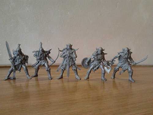 Fantasy Battles Viking Warriors 54 mm 1/32 - 5 Fantasy Sci-Fi Tehnolog Russian Toy Soldiers DND Action miniatures