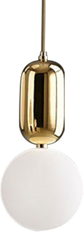 Modern pendant light Kronleuchter - Nordic Persnlichkeit Glas Kronleuchter moderne minimalistische Esszimmer Schlafzimmer Nachttisch Einzelkopf Kronleuchter (Standard warmes Licht 15cm  15cm) Haush