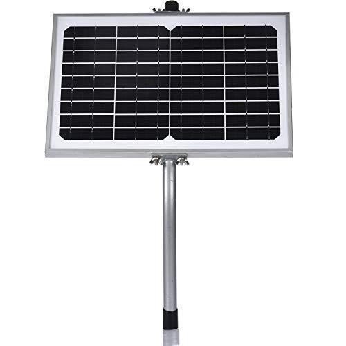 SUNER POWER 10 Watt Solar Panel Powered Charger Kit + + Tubular Mount Bracket for Automatic Gate Opener, Electrical Fence, etc