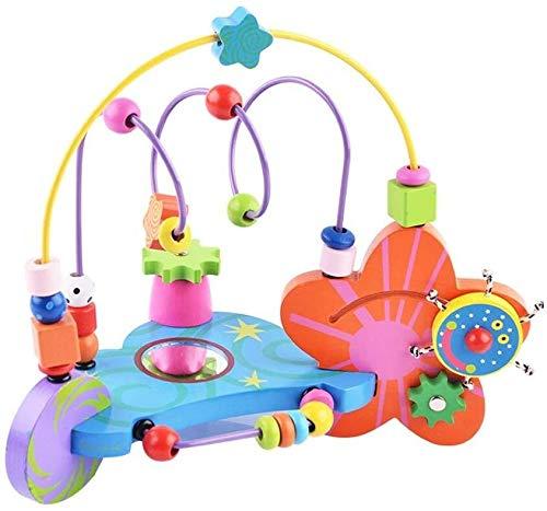 Petite voiture Pkjskh multifonctions Creative à la balle 0-2-3-6 ans jouets éducatifs for enfants miroir de transmission de comptage apprentissage perles rondes jeune fille cadeau petite enfance jouet