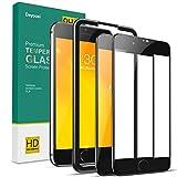 Deyooxi Cristal Templado para iPhone 7 Plus/iPhone 8 Plus,2 Unidades Pantalla Protectora Completa de Cobertura Total, Alta Definicion Vidrio Templado Protector,Negro