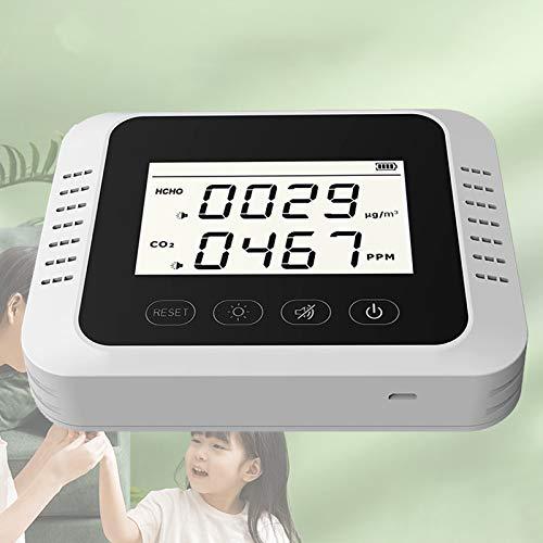 WHJX CO2 Messgerät,Portable CO2 Melder,Professional Hochgenauer Luftqualität Monitor,Formaldehyd-Detekto,Home Kohlendioxid Detektor,Kohlendioxid Tester,CO2 HCHO luftqualitätsmessgeräte