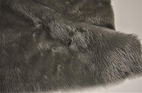 CRS Fur Fabrics Uni Fun Kunstfell Stoff, Material Silber Grau