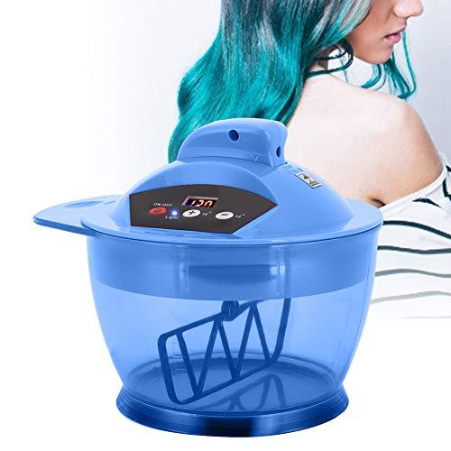 Haarkleur mengkom, elektrische haarcrème automatische mixer met LCD tijdweergave USB oplaadbaar, voor het kleuren van kapsalons(BLAUW)