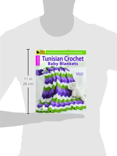 Tunisian Crochet Baby Blankets-8 Original Designs in Contemporary Colors-Bonus On-Line Technique Videos Available