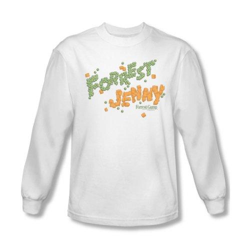 Forrest Gump - - Petits pois et carottes pour hommes shirt à manches longues en blanc, Large, White