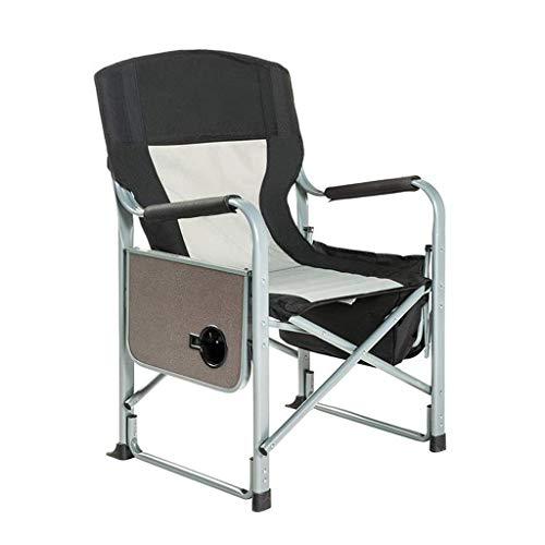 YLCJ Outdoor opvouwbare recreatieve campingstoel, draagbare stalen bestuurdersstoel met thermische tas en salontafel