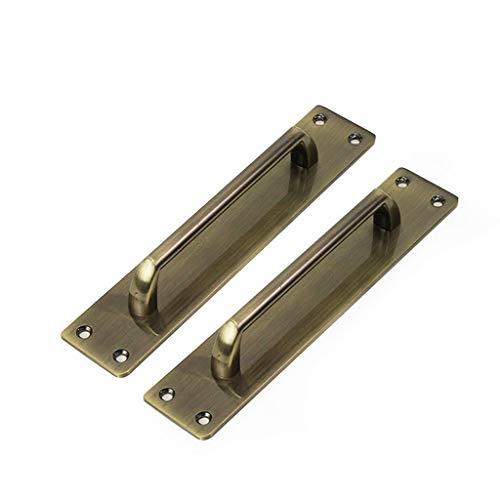 RSZ-cGriffe 2 Stück Hintergrund Türgriffe, Türhebel Brandschutztür Polieren Holztür Metalltür Hardware Zubehör Oberflächenmontage Türschnalle Türgriffe für Küchenschränke (Size : Hole spacing 160mm)