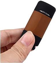 LED-licht USB-lading 0,3 Watt 25 Lum draagbare LED-zaklamp USB oplaadbare sleutelhanger zwart blauw geel groen rood bruin