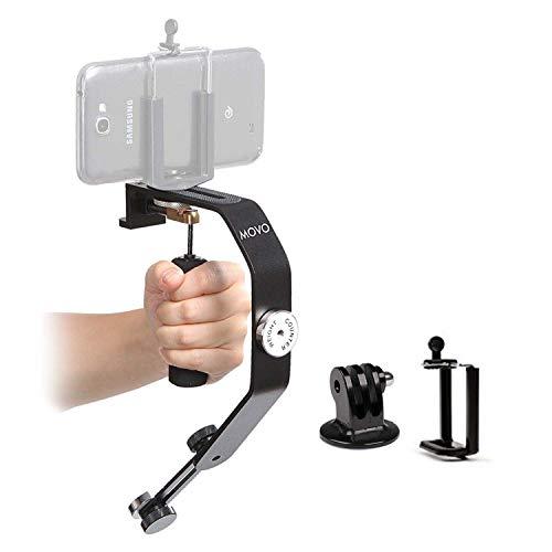 Sistema di Stabilizzatore Video Portatile Movo Photo VS01-SP con Contrappesi per GoPro HERO, HERO2, HERO3, HERO3+, HERO4 e Apple iPhone 4, 4S, 5, 5S, 6, e Smartphone Android Samsung Galaxy S3, S4, S5, S6