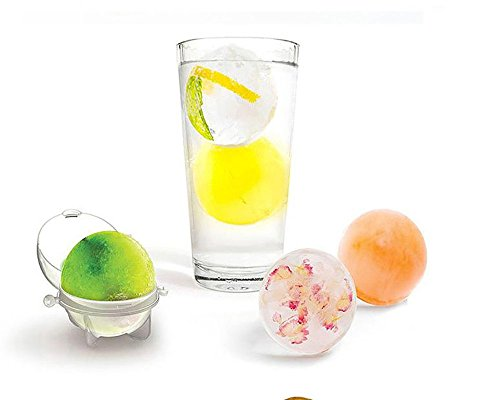 Round Ice Cube Ball Maker Sphere Molds Cocktails Set of 4 Best Gift For Whisky Party Home Holiday