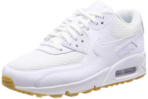 Nike Damen Air Max 90 Laufschuhe, Mehrfarbig (White/White/Gum Light Brown 135), 38.5 EU