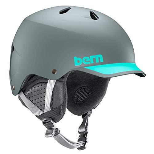 Bern Watts EPS Helm, Mattgrau/Aqua, L