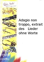 ROBERT MARTIN MENDELSSOHN F. - ADAGIO NON TROPPO, EXTRAIT DES LIEDER OHNE WORTE Partition classique Bois Hautbois
