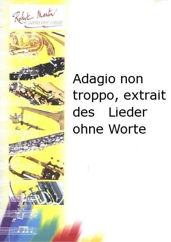Partitions classique ROBERT MARTIN MENDELSSOHN F. - ADAGIO NON TROPPO, EXTRAIT DES LIEDER OHNE WORTE Violon