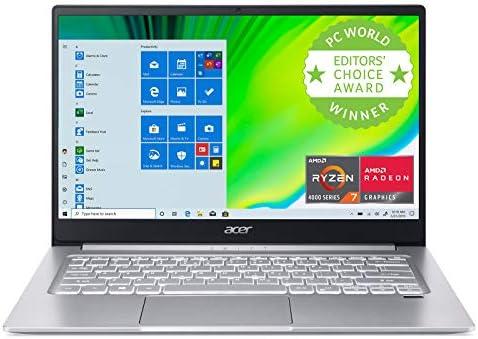 "Acer Swift 3 Thin & Light Laptop, 14"" Full HD IPS, AMD Ryzen 7 4700U Octa-Core with Radeon Graphics, 8GB LPDDR4, 512GB NVMe SSD, Wi-Fi 6, Backlit KB, Fingerprint Reader, Alexa Built-in"