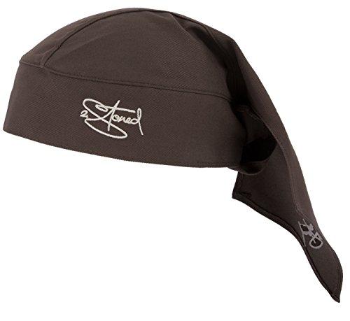 2-stoned Wear 2Stoned Bandana Kopftuch Classic in Braun mit Stick für Damen, Herren und Kinder