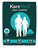 Best Adult Diapers - Kare Med Adult Diaper Medium ,Waist Size 76-114cm Review