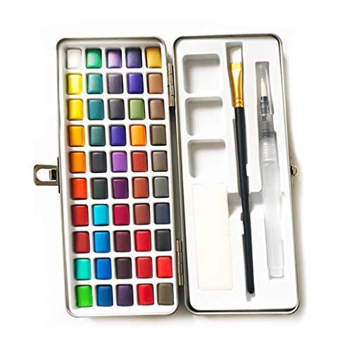 50 Aquarellfarbkasten Set Solid Aquarell Paint Pigment Set Tragbar Für Anfänger Zeichnung Kunst- Geeignet Für Anfänger Und Profis