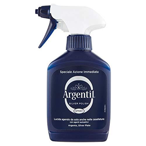 Argentil Detergente Specifico per Argento Spray, Azione Lucidante e Antiossidante Rapida, con Agenti Autoattivi, 150ml