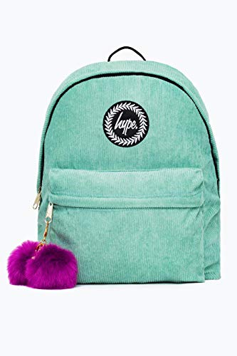 Hype Corduroy Pom Backpack One Size Mint/purple