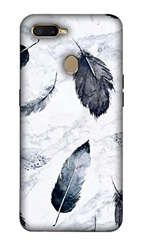 NDCOM Feathers Printed Hard Mobile Back Cover Case for Oppo A7