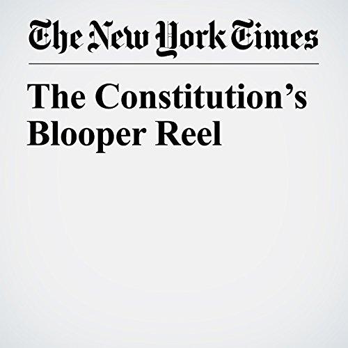 The Constitution's Blooper Reel copertina