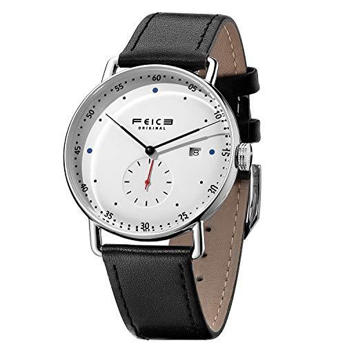 FEICE Reloj Automático Mecánico para Hombres Reloj Bauhaus Minimalista Analógico Relojes de Pulsera Unisex FM506