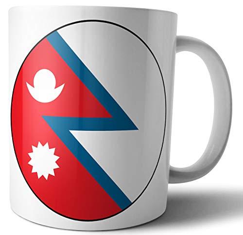 Nepal - Nepalese Vlag - Thee - Koffie - Mok - Beker - Verjaardag - Kerstmis - Cadeau - Geheime Kerstman - Stocking Filler