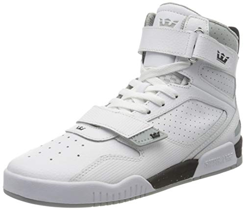 Supra Unisex-Erwachsene Breaker Hohe Sneaker, Weiß (White-Black/White 126), 42.5 EU