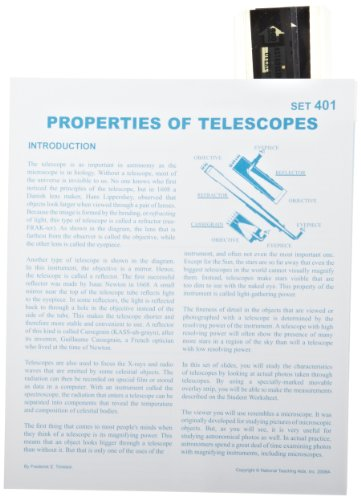 American Educational Properties Of Telescopes Astroslide Chart Set (Box of 10)