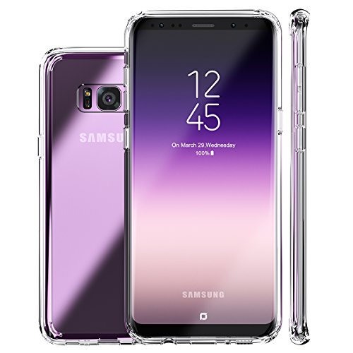 ROYBENS Galaxy S8 Plus Case,Clear Slim Hard Anti-Scratch Excellent Grip Flexible TPU Non Slip Non Bulky 360 Full Body Shockproof Protective Cover for Samsung Galaxy S8 Plus - Crystal