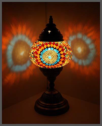 Mosaiklampe Mosaik - Tischlampe M Stehlampe orientalische lampe BUNT - KREIS Samarkand-Lights