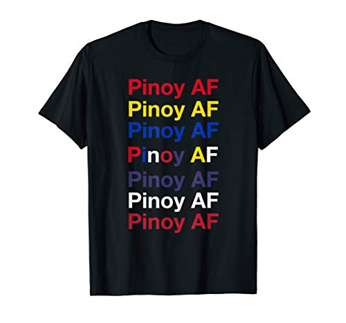 Pinoy AF Filipino-American Heritage Pop-Art Repetition Gift T-Shirt