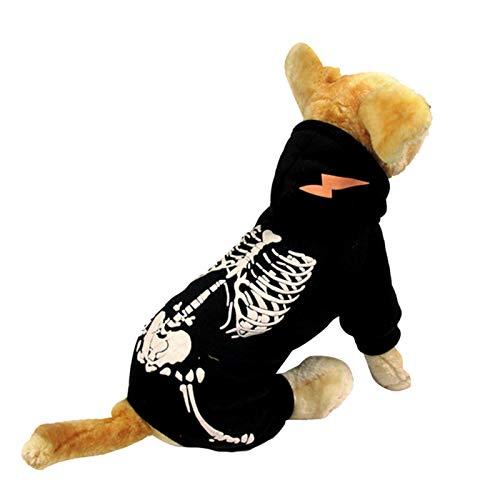 SALUTUYA Material de polister para Disfraz de Perro Fresco Negro para Ropa para Mascotas(XS)