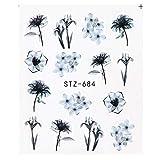Zoom IMG-2 adesivi floreali per nail art
