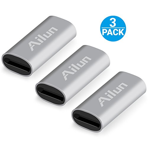 Ailun Charging Adapter Compatible with Apple Pencil Cable 3 Pack Compatible with iPad Pencil Charger Convertor and Tether Female to Female Cable Adapter for iPad Pro Apple Pencil Connector Silver