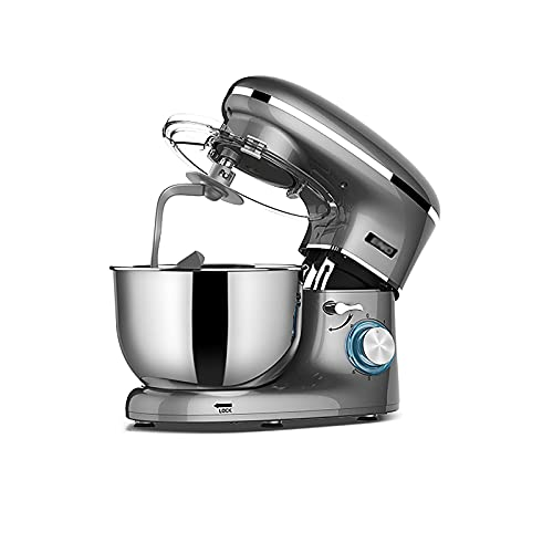 Household Stand Mixers 6 +p Speed Food Dough Mixer 1300W 6.2L with Dough Hook Beater & Egg Whisk for Butter Cream Meringue Cookie