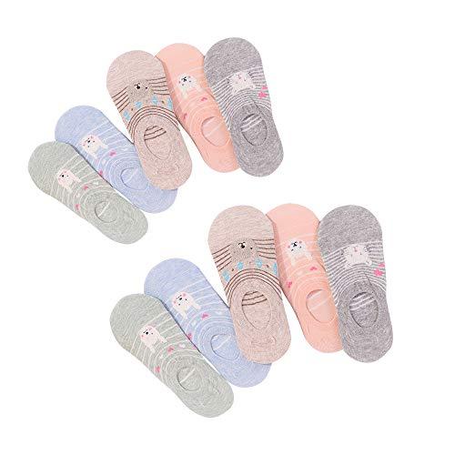Yifen Mujeres y Niñas de algodón antideslizante (10 pares)